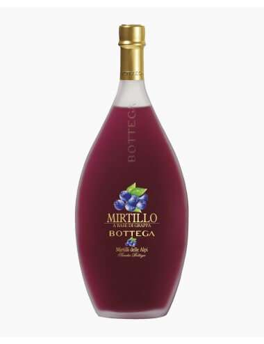 Liquore mirtillo e grappa Bottega 70cl