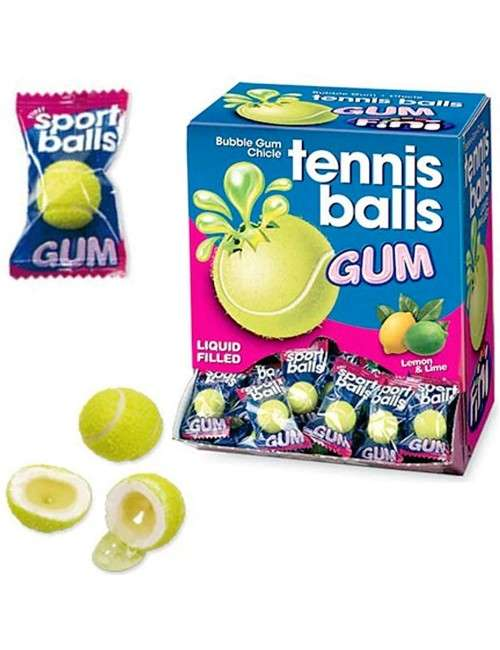 Tennis Ball Bubble Gum Fini 200 pezzi