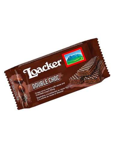 Loacker Wafer Double Choc 25 x 45 g