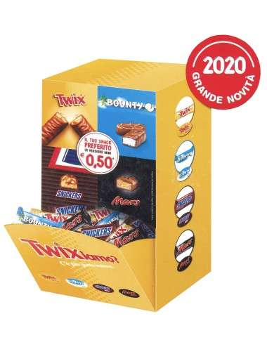 Minis Mix Mars Bounty Snickers Twix expo a cassetto 2 kg