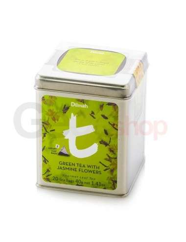 Dilmah Luxury Lattina Green Tea with jasmine flowers